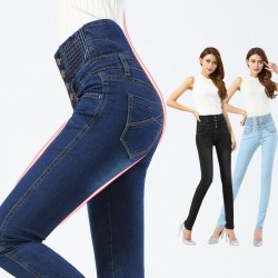 Top-Quality-Elastic-High-Waist-Women-Slim-Jeans-skinny-Fit-Vintage-Elastic-Cotton-Thin-Pencil-Pants-1