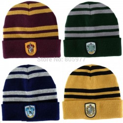Warm-fashion-Harry-Potter-Gryffindor-Wool-Knit-Beanie-Hat-Cap-Slytherin-Ravenclaw-Hufflepuff-Emblem-School-Hats-1