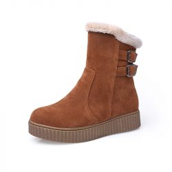 Winter-Flock-Women-s-Casual-Platform-Boots-Brown-Black-Coffee-Woman-Fashion-Mid-Calf-Boot-1