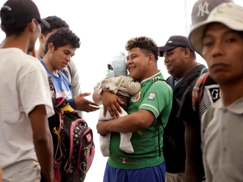Foto de inmigrantes