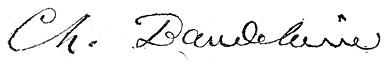 Baudelaire signatur