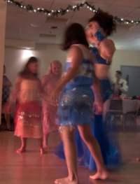 Alia dancing with the children. Photo by Raymond Romanos
