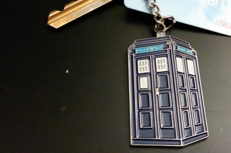 TARDIS keychain from The Who Shop