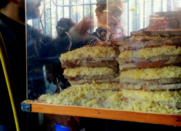 Massive grilled cheese sandwiches!