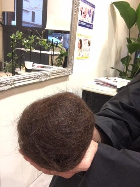 くせ毛をフレンチカットグランで切った髪の毛