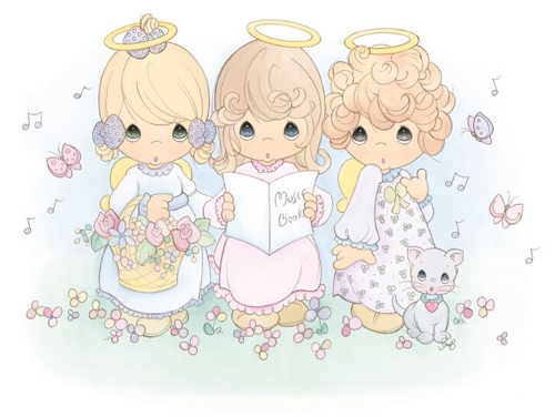 gallery images and information precious moments angels clip art