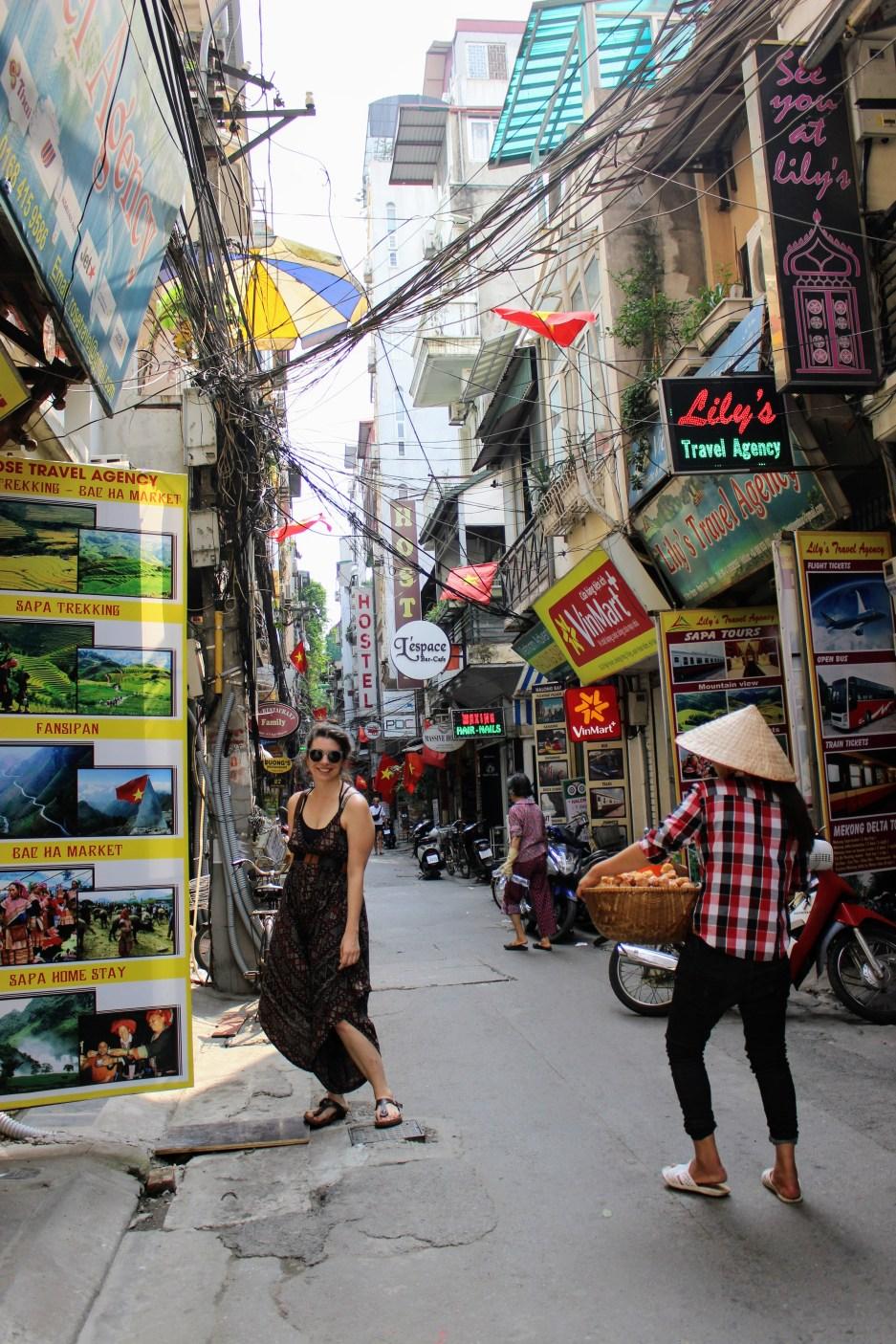 Caitlin in Hanoi
