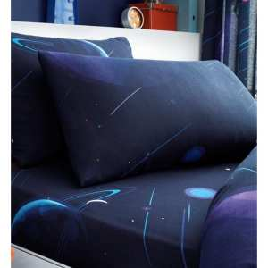 FITTED SHEET AND PILLOWCASE SET – DEEP SPACE SINGLE