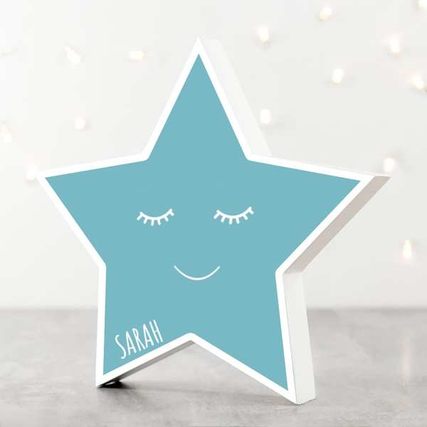 baby name PERSONALISED SMILING STAR KEEPSAKE