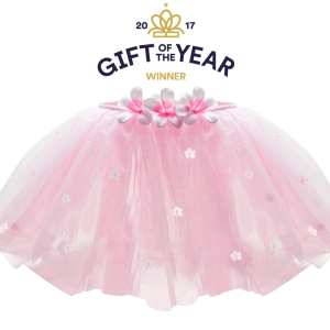 girls fairy TUTU – PINK / WHITE FLOWERs AND SEQUINs