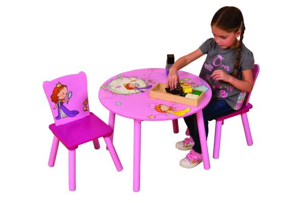 Pink PRINCESS ROUND TABLE & 2 CHAIRS SET