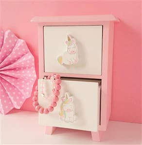 Unicorn Two Drawer Keepsake Cabinet
