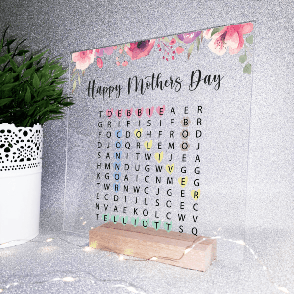 word search plaque