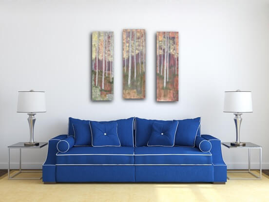living room art, behind the couch, above the couch painting, grouping