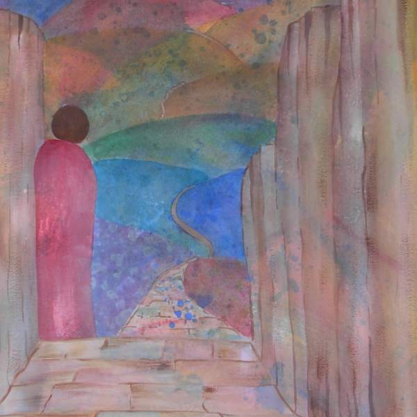 figure journey mixed media painting alicearlene.com