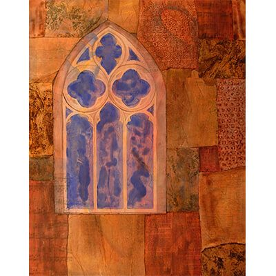 collage, acrylic, collage art, acrylic paintings, paintings, painting, art work, modern art, contemporary art, window, representational art, mixed media art, wood panels