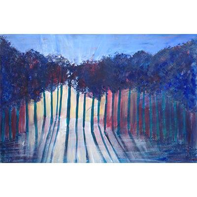 aesthetic, acrylic paint, acrylic, trees, sun, sun through trees, acrylic paintings, paintings, painting, prophetic, acrylic painting, modern art, evocation, contemporary art, allegorical, intuitive, landscape paintings, representational art, heart of worship, arts on stage