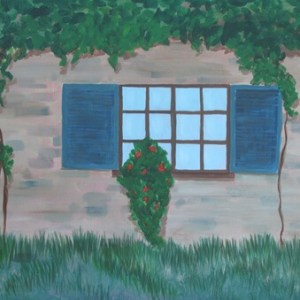 Ancient Walls Worship Painting Grape Vines Window