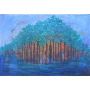 acrylic paint, the grove, acrylic, prophecy, prophetic art, paintings, painting, prophetic, prophetic painting, art work, acrylic painting, modern art, trees, blue