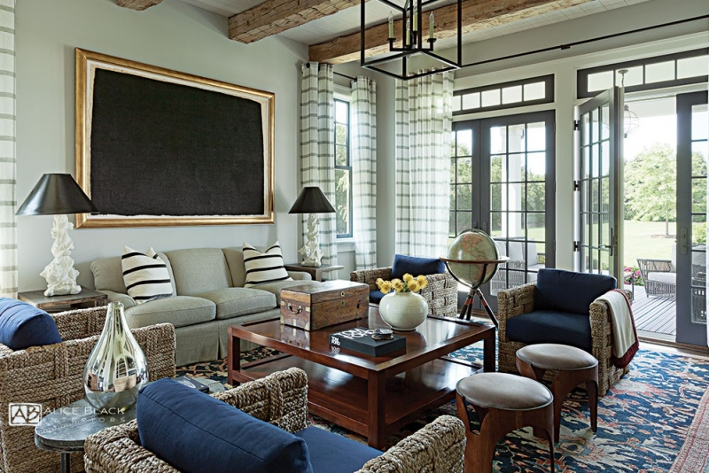 Southampton living room by Alice Black Interiors