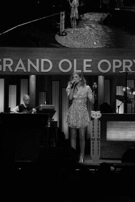 Carly Pearce performing at the Grande Ole Opry