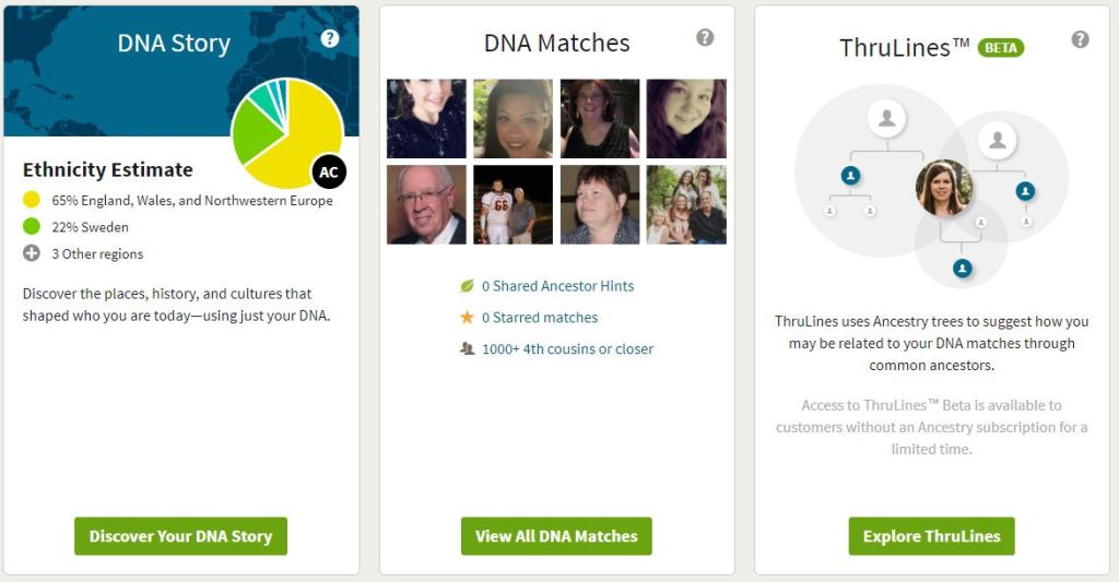 My Ancestry DNA Test Results – Alice Childs
