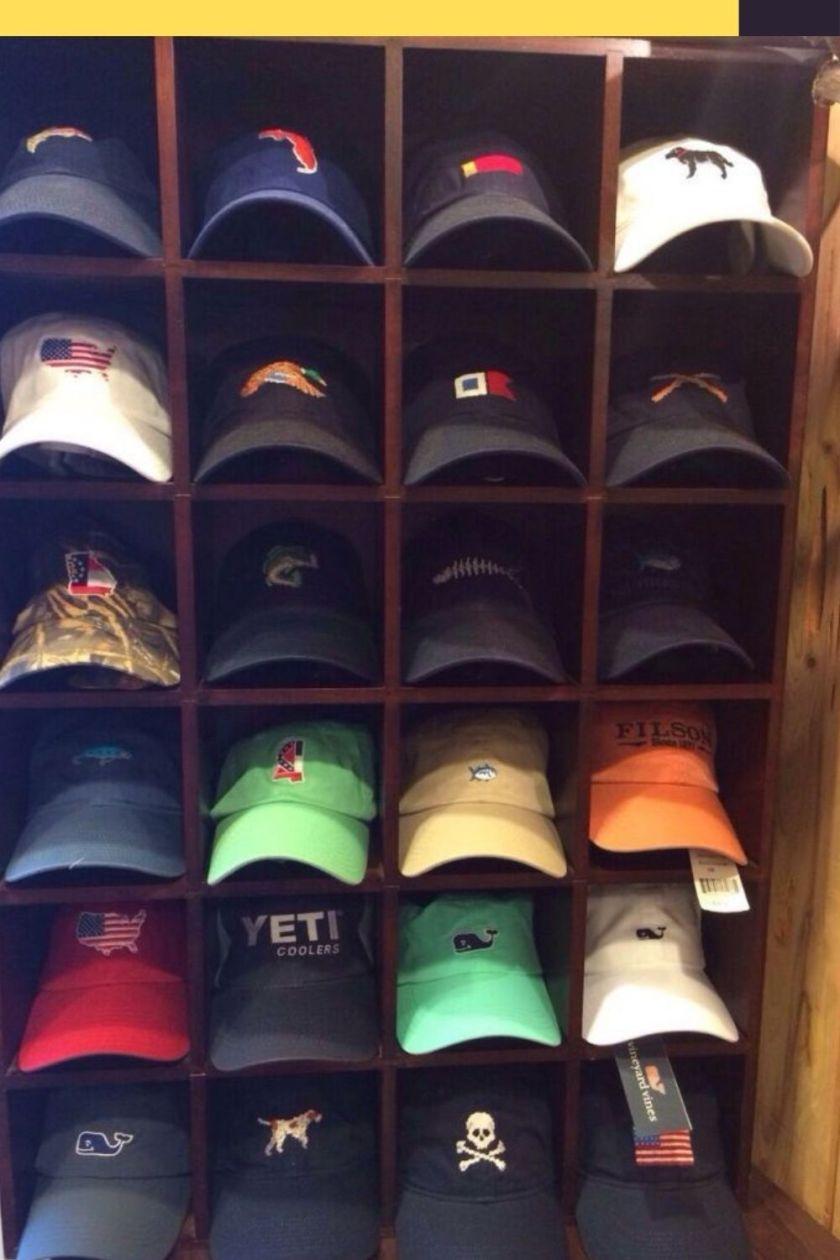horizontal hat rack