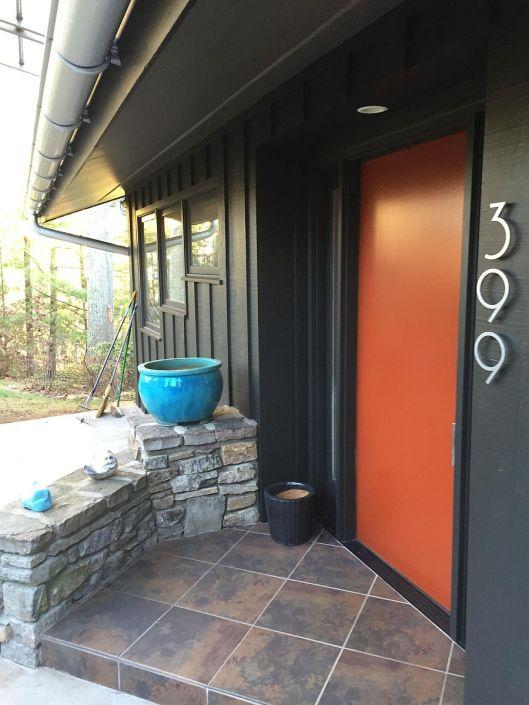 New Front Door Home Remodel Green