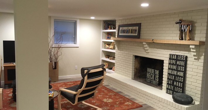Basement after project completed