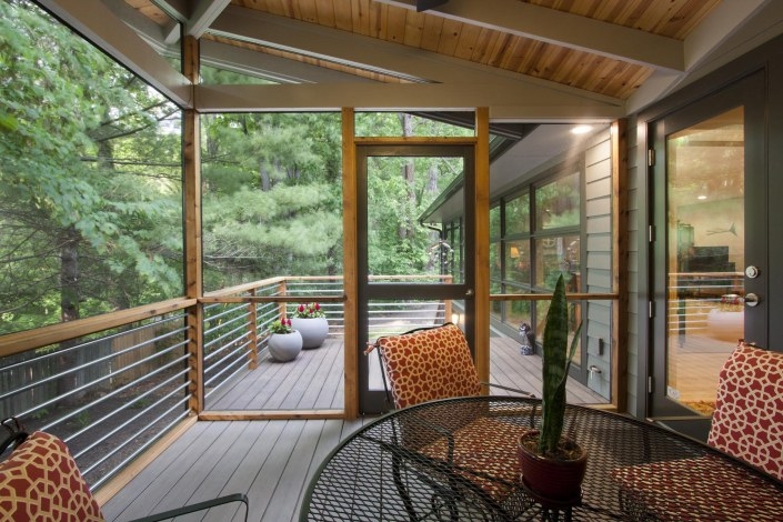North Asheville Ranch porch enclosure outdoor living