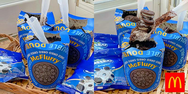 【全台美食】麥當勞期間限定「雙倍OREO冰炫風」再送Mini OREO一包!搭波享受啊~ |麥當勞美食| |麥當勞冰炫風|