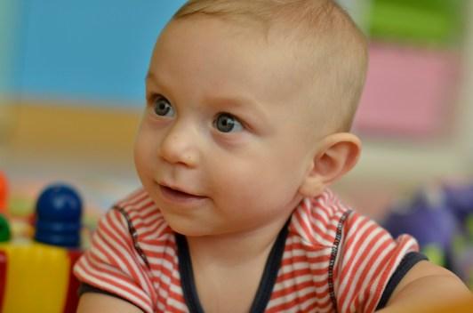 Kingsley loves his nurse at Hummingbird Nursery