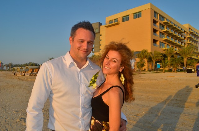Mere days pregnant with our Seahorse: at Rixos Hotel, Palm Jumeira at Matt & Trina's wedding