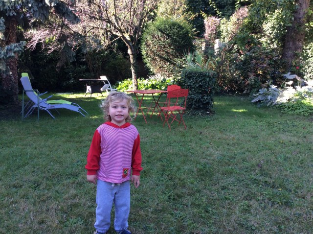Daily outdoor play in the rambling garden of our French abide