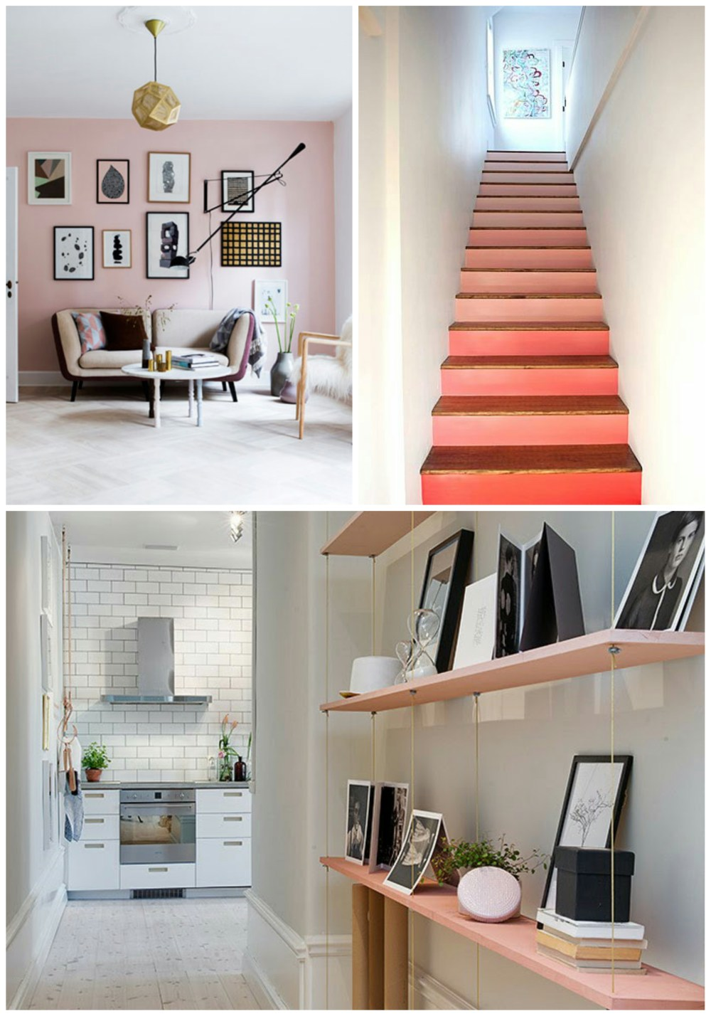 Beautiful blush, bringing colour to a room without wow.