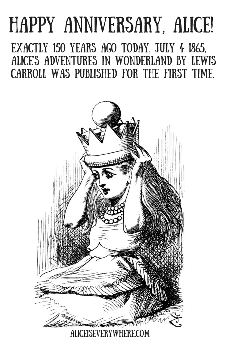 150 years of Alice in Wonderland by Lewis Carroll