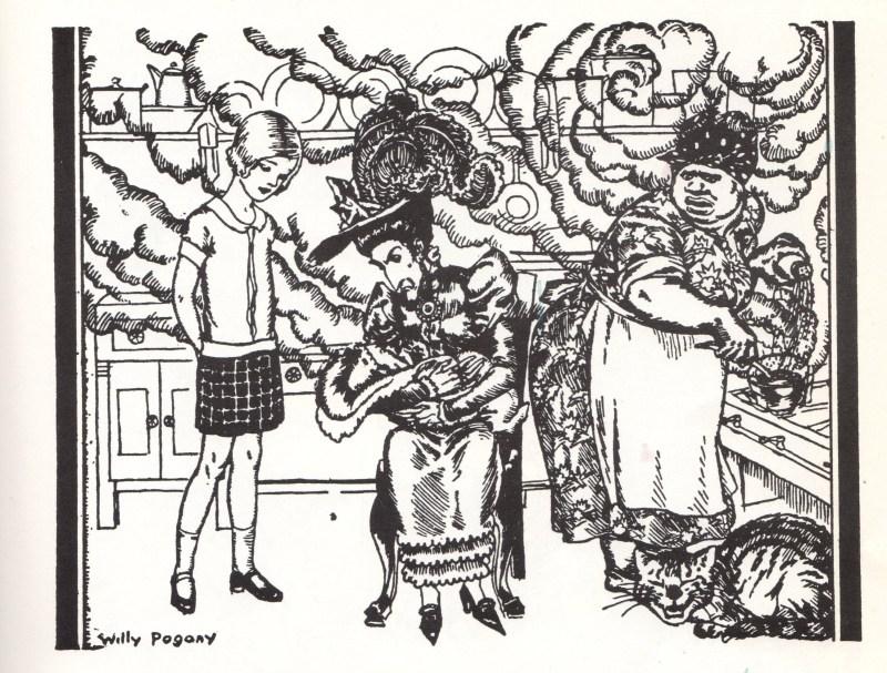 Flapper Alice in Wonderland meets the Duchess