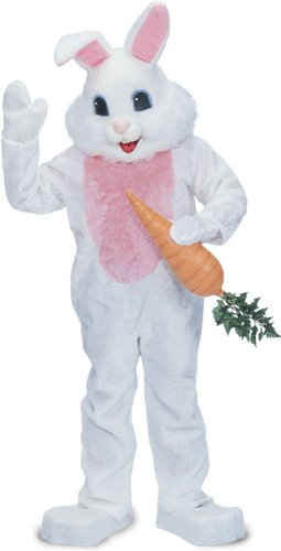 fuzzy white rabbit costume