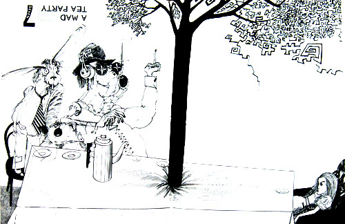 Mad Tea Party by steadman