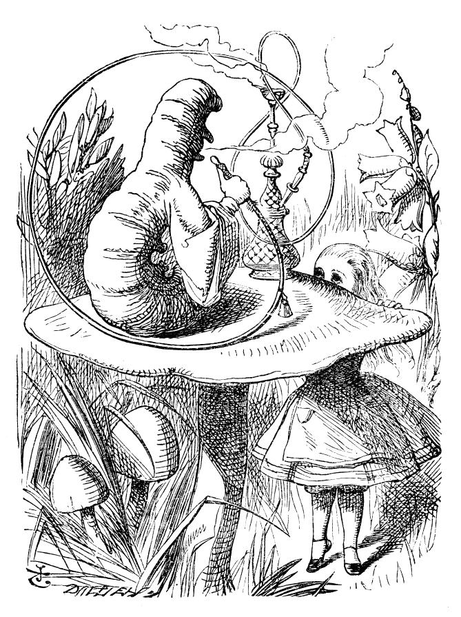Alice in Wonderland meets the Caterpillar
