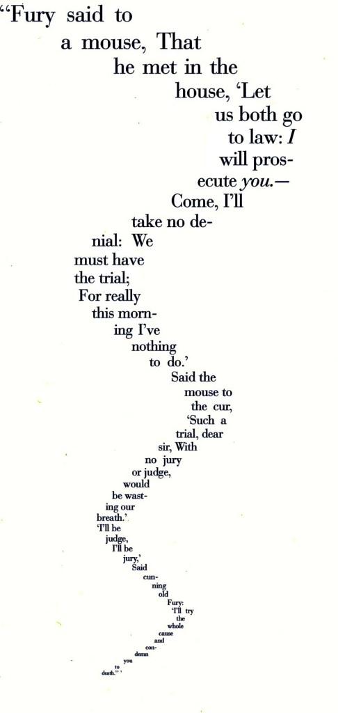 emblematic poem from Alice's Adventures in Wonderland