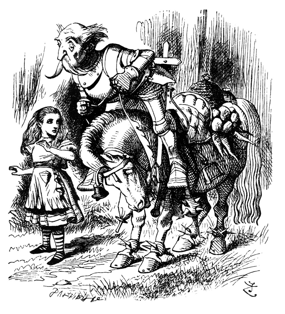 John Tenniel Through The Looking Glass White Knight