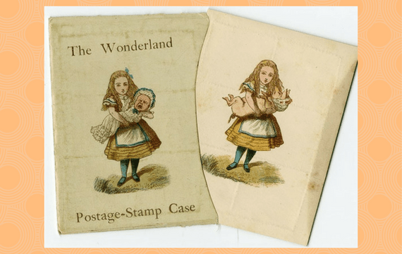 wonderland stamp case was sold with eight or nine wise words about letter writing