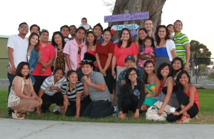 Sansano pride! Still can't believe this is just my mom's Oxnard side of the family... There's LOTS of love to go around
