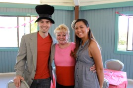 Alice and the mad hatter's mom, Lena, surprised them all the way from New Hampshire!