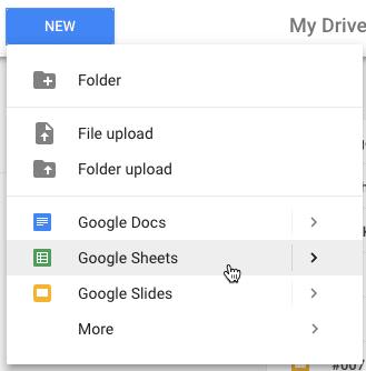 New Google Sheets