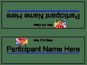 Sample Name Plate