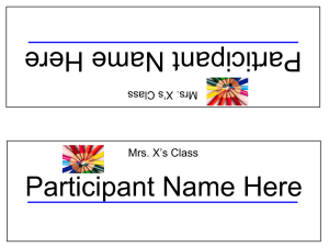 Sample Name Plate