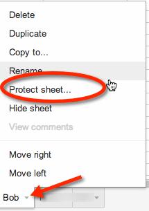 protect sheet alice keeler