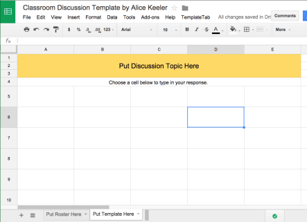 Classroom Discussions Template
